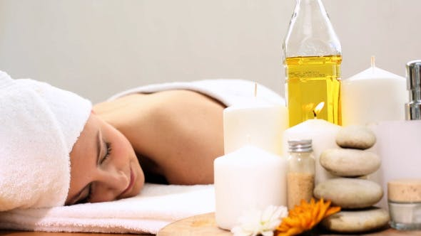 Thumbnail for Peaceful Woman Relaxing On The Massage Table 1