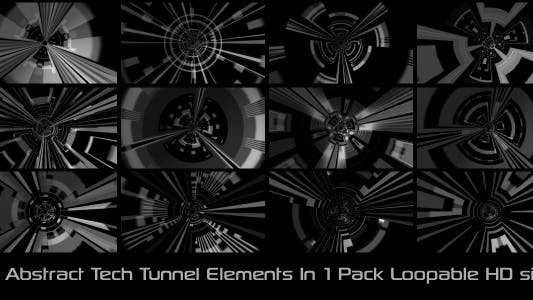 Thumbnail for Abstract Tech Tunnel Pack 01