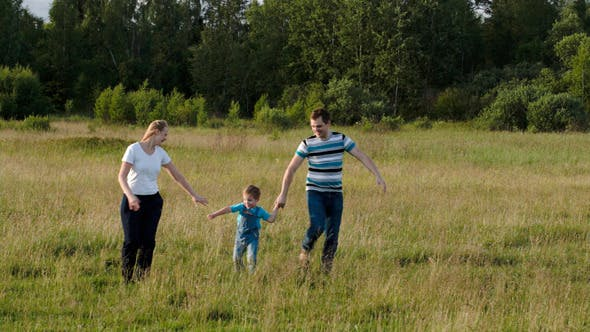 Thumbnail for Family Of Three Having Active Rest Together