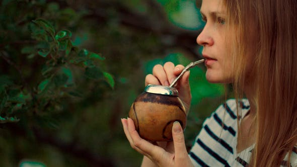 Thumbnail for Young Woman Drinking Mate Outdoor