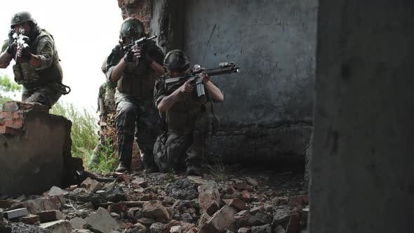 Thumbnail for Special Forces Team Training in Destroyed Building
