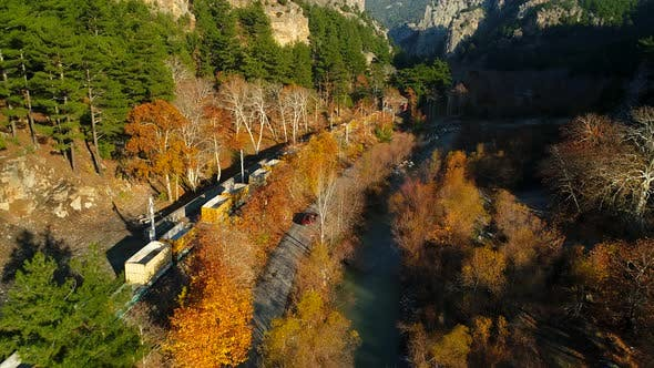 Thumbnail for Passing Train Wagon In Autumn