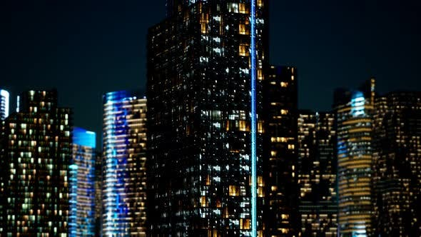 Cover Image for Skyscrapper in the Business Quarter in the Night