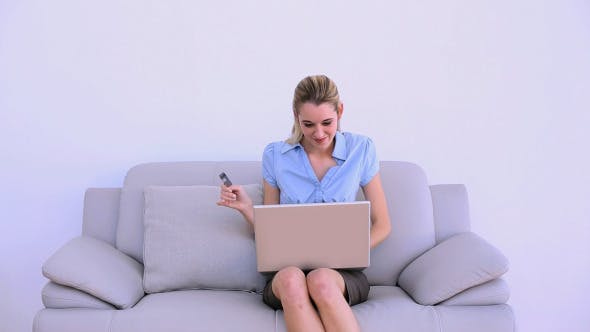 Thumbnail for Stylish Successful Businesswoman Shopping Online