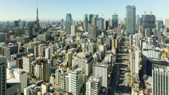 Thumbnail for Time Lapse of the densely packed buildings of Tokyo Japan