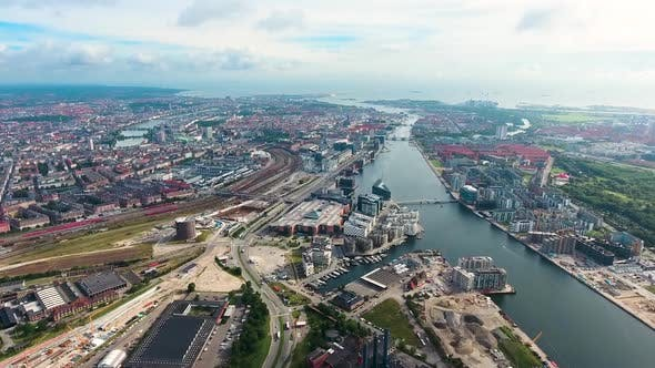 Thumbnail for City Aerial View Over Copenhagen