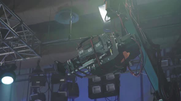 Camera in Tv Studio During Tv Recording