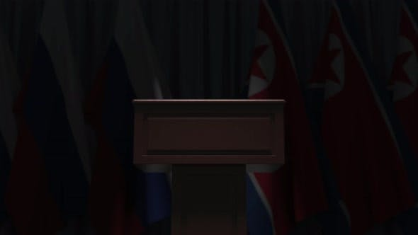 Thumbnail for Many Flags of North Korea and Russia
