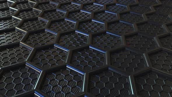 Thumbnail for Black Plastic Hexagonal Mesh