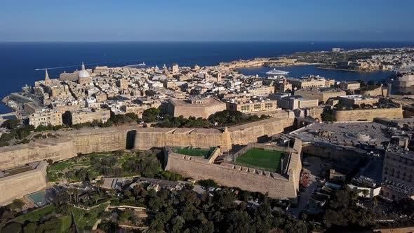 Aerial View of Valletta, Malta