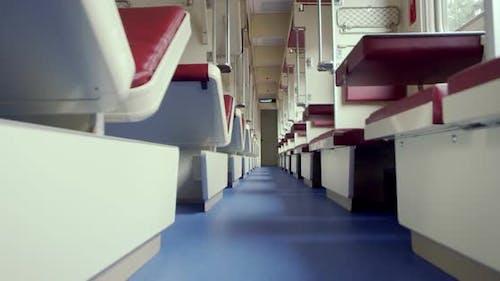 Inside a Passenger Train in East Europe