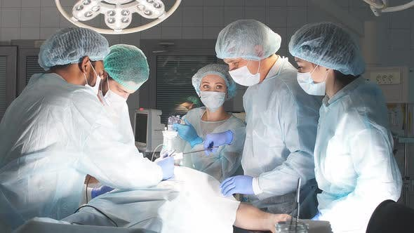 Thumbnail for Team Work of Surgeons in Hospital