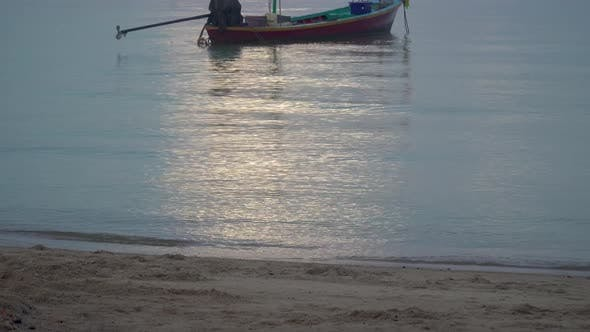 Thumbnail for Boat at Sunrise on Water