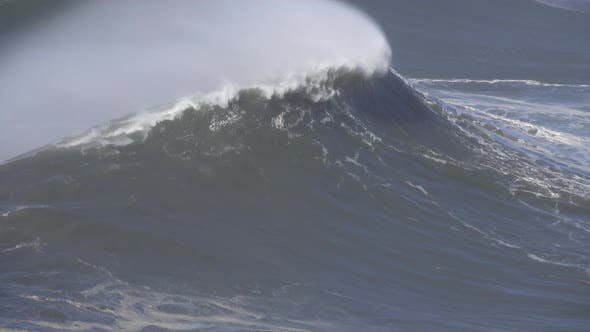 Thumbnail for Large Wave Rolling on Surface of Stormy Ocean