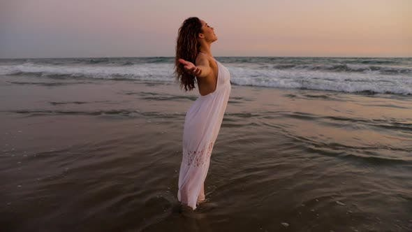 Thumbnail for Beautiful Woman Enjoying The Beach