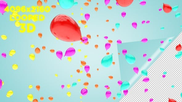 Thumbnail for Balloon Falling Background 4K