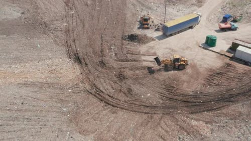 Landfill of Waste with Machinery