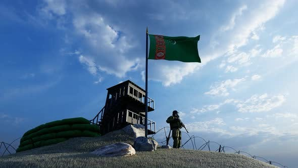 Thumbnail for Soldier Protecting the Guard by Keeping a Watch on the Turkmenistan Border