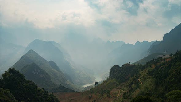 Thumbnail for Ha Giang Valley, Vietnam, Timelapse  - Ha Giang Valley Midshot