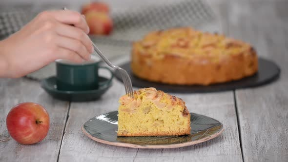 Thumbnail for Piece of delicious apple cake
