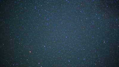 Beautiful night sky and stars with meteor or shooting star