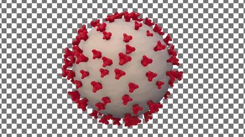Coronavirus ( Covid 19 ) Red and White
