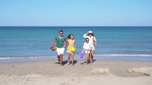 Thumbnail for Young Family on Summer Beach Vacation