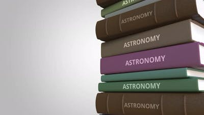 Stack of Books on ASTRONOMY