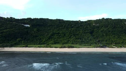 Nyang Nyang Beach Cliff Parallax with Clouds