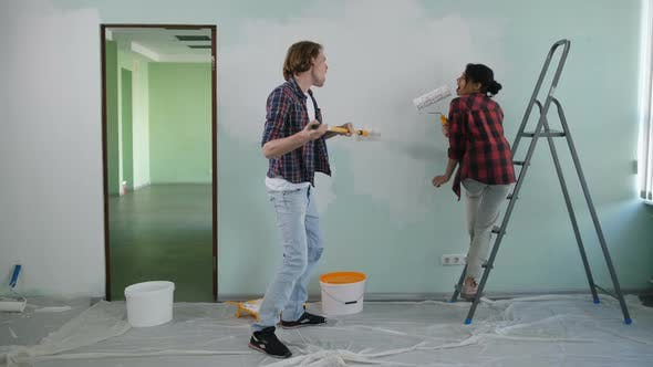 Thumbnail for Carefree Homeowners Making Renovation of House