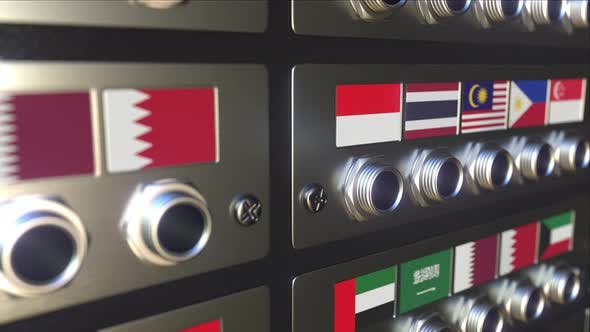 Connector with Flag of Malaysia