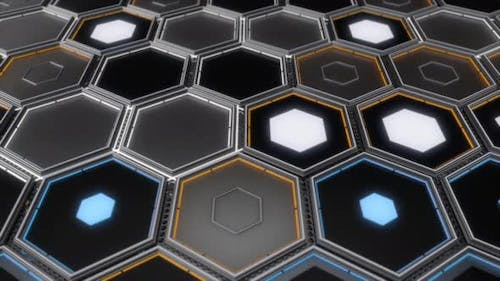 Abstract hexagons