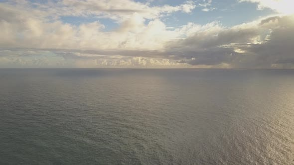 Thumbnail for Seascape with dramatic clouds