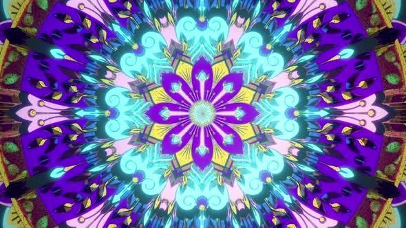 Beautiful Vj Loop Trippy Visual Background  Music Audiovisual Virtual Flower Futuristic Psychedelic