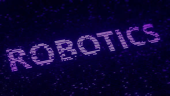 Thumbnail for Purple ROBOTICS Word Made with Flying Particles