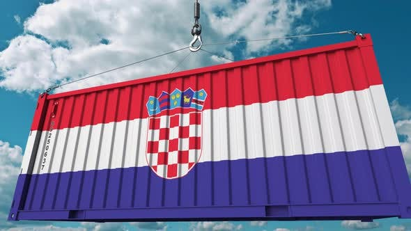 Thumbnail for Cargo Container with Flag of Croatia