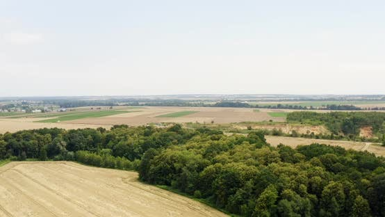 Thumbnail for Aerial View of Farmland. Aerial View of Forest and Agriculture Fields