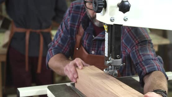 Thumbnail for Mature Cabinet Maker Creates a Cabrioli Leg Using Bandsaw