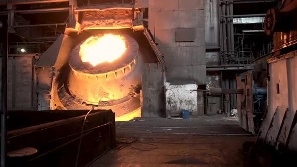 Cover Image for Hot Steel Vat At The Metallurgical Plant