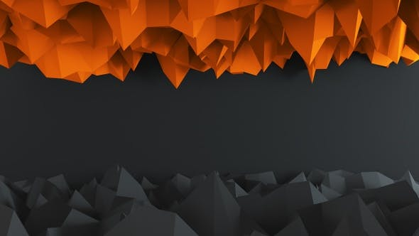 Thumbnail for Abstract Low Poly Dark And Orange Background