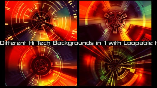 Thumbnail for Hi-tech Backgrounds Pack 01