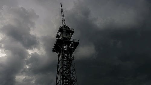 Old Abandoned Skydiving Training Tower