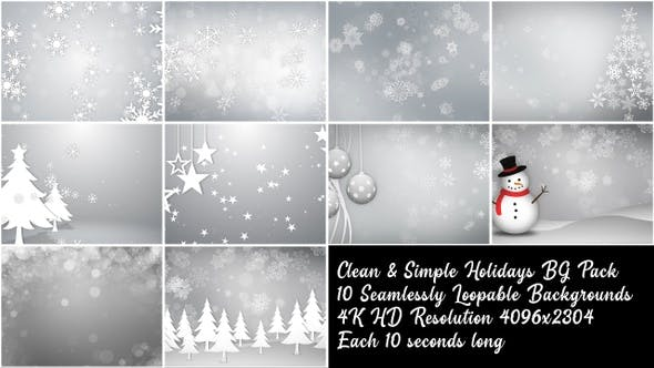 Thumbnail for Clean and Simple Christmas Backgrounds Pack