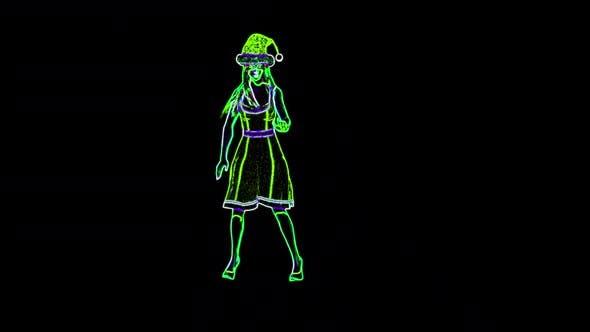 Santa Mom Neon Dance Loop