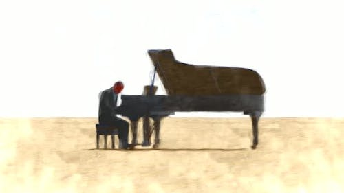 The man playing the piano Stop Motion
