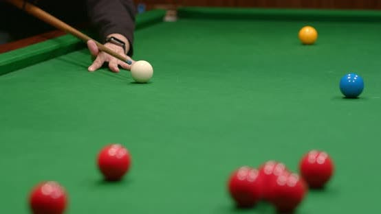 Thumbnail for Play snooker ball on table