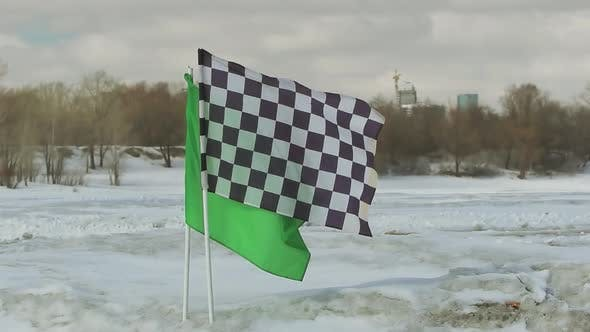 Thumbnail for Checkered Flag On The Ice Racing