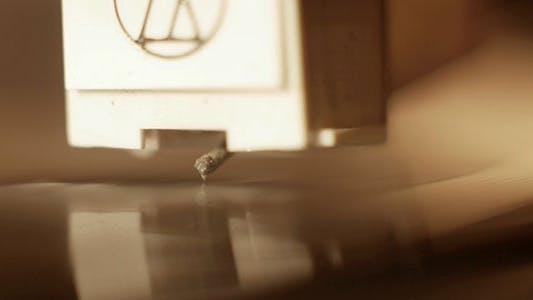 Thumbnail for Vinyl Turntable Record Player Needle Macro