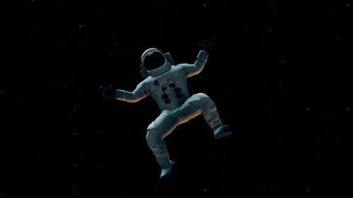 Male Astronaut Lost In Outter Space 4k