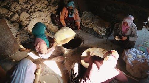 Making Homemade Bread in Village
